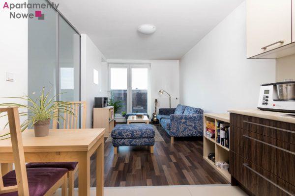 Funkcjonalne mieszkanie 43 mkw z osobną sypialnią oraz wspaniałym widokiem na Bulwary Wiślane
