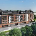 """Commercial property with a large glazed area facing to the main street in """"Zabłocie Residence"""" complex"""