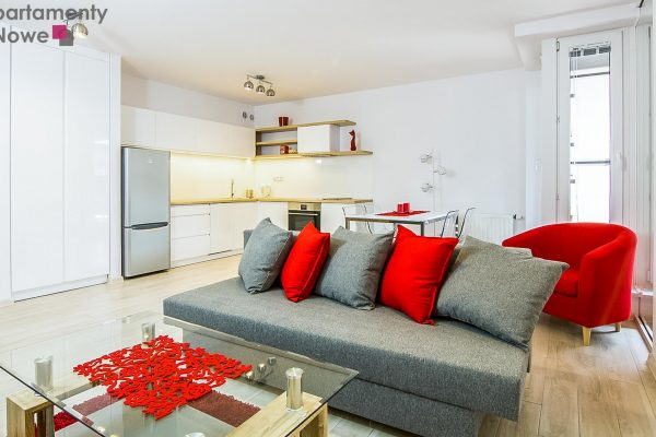 """Gustownie urządzone, funkcjonalne mieszkanie 53m2 w prestiżowej inwestycji """"Apartamenty Nadwiślańska 11"""""""