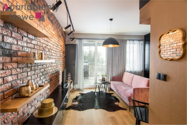 Brand new, luxury one-bedroom apartment 37 sqm with fabulous view on Vistula river