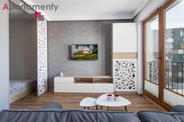 "New, cozy one-bedroom apartment in a new investment ""Apartamenty Go!""at Rakowicka 22 J next to Galeria Krakowska"