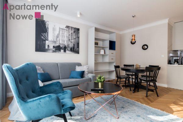 """Nowe, komfortowe mieszkanie 50 m2 z osobną sypialnią w luksusowej inwestycji """"Augustiańska Residence"""" w centrum Kazimierza."""