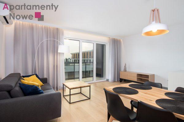 """Nowe, klimatyzowane mieszkanie 60 m2 z dwoma sypialniami w nowej inwestycji """"Rakowicka Podkowa"""" w centrum miasta"""