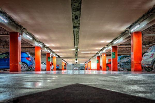 Parking spaces in the underground car parks in Kraków