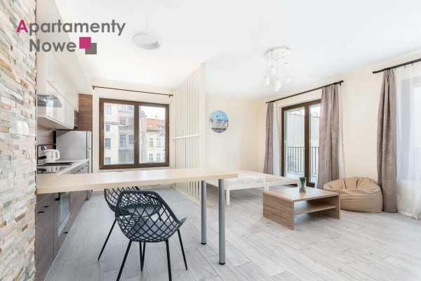 """New, spacious studio-apartment 40 sqm with a huge balcony in a new investment """"Dom pod Wilgą"""""""